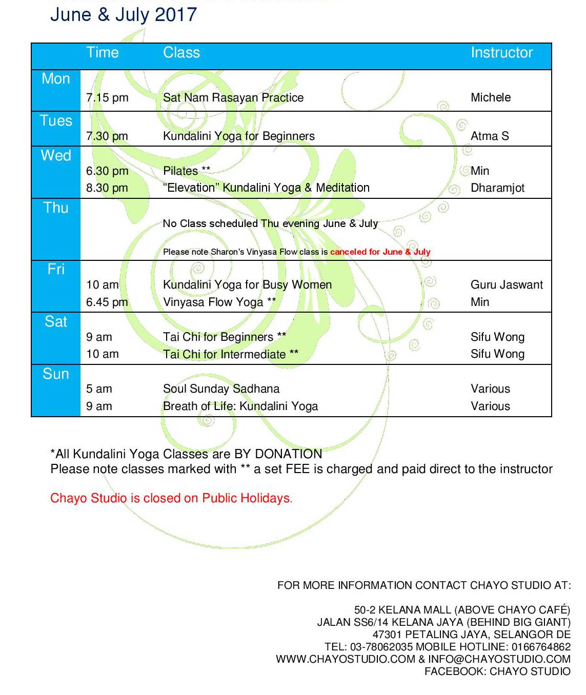 JuneJuly17-Weekly-class-Schedule